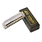 Huang - (108-C) Blues Harp Harmonica 10 Holes/20 Tones/Brass Comb