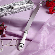 """Roman Holiday"" Resin Handle Wedding Cake Knife"