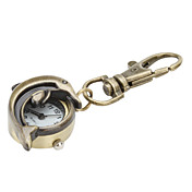Half Hollow Dolphin of Unisex Alloy Analog Quartz Keychain Watch (Bronze)