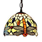 Tiffany Pendant Light with 1 Light in Dragonfly Design