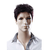 Capless Synthetic Short Straight Men's Wigs