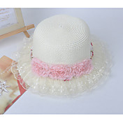 Ladies Flower Lace Straw Hat(Circumference 56cm)