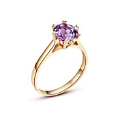 Luxurious Classic Ladies' Amethyst Ring (More Materials)