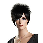 Capless High Quality Synthetic Fashion Short Black Lady's Wig Party Wigs