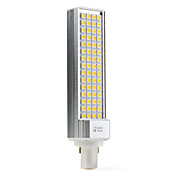 G24 9W 60x5050 SMD 520-600LM 2500-3500K Warm White Light LED Bulb (110-240V)
