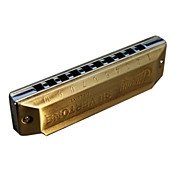 Huang - (103-C) Blues Harp Archaize Hamonica 10 Holes/20 Tones/Brass Comb