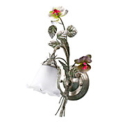 Country Style Wall Light with 1 Light Floral Design