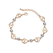 Austrian Crystal With Real Platinum Plated Anti-Allergy Ladies Bracelet Our Hearts Together (More Colors)