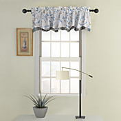 Blue Tailored Valance