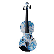 Kinglos - (YZ-1201) Blue-White Porcelain Design Solid Spruce Violin Outfit (Multi-Size)