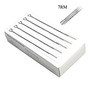 50 Pcs Sterile Stainless Steel Tattoo Needles 7RM