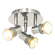 Comtemporary Flush Mount Spot Lights with 3 Lights Nickel Finished