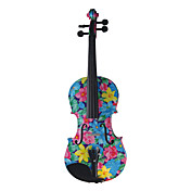 Kinglos - (XC-1002) Peachblossom Design Solid Spruce Violin Outfit (Multi-Size)