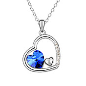 Austrian Crystal With Real Platinum Plated  Anti-Allergy Ladies Necklace The Fate In Heart (More Colors)