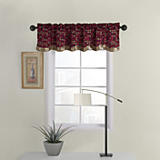 Colorful Plaid Tailored Valance