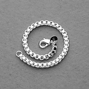 Beautiful Silver Plated 4MM Box Chain Unisex Bracelet