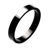 Titanium Steel Black Ring