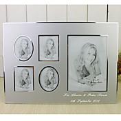 Personalized Silver Aluminum Photo Frame - 5 Photos