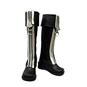 cosplay schoenen genspireerd door D.Gray-man-allen witte rits bruin