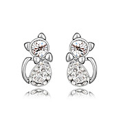 Gorgeous 18K Gold Plated Crystal Animal Stud Earrings(More Colors)