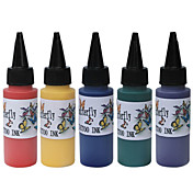 de haute qualit 60ml d'encre de tatouage de couleurs primaires 5x