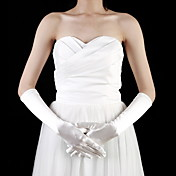 Satin Elbow Length Fingertips Flower Girl Gloves (More Colors)