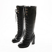 Leatherette Chunky Heel Platform Knee High Boots Party / Evening Shoes (More Colors)