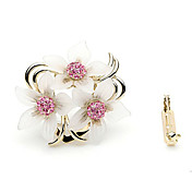 Gorgeous Alloy With Rhinestones Flower Brooch
