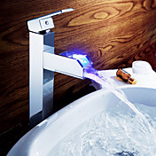 Strö ® från lightinthebox - färgskiftande LED waterall bathroom sink kranen (hög)