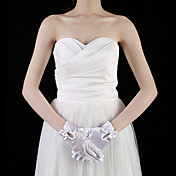 Satin With Bow Bridal/ Party/ Evening Gloves (More Colors)