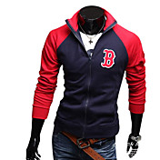 Men's Mixed Colors Zipper Pocket Coats