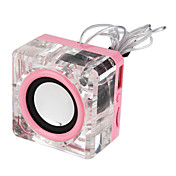 Mini Crystal speaker mp3 player support TF/USB Slot + FM Radio