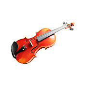 Violintine - (V24) 4/4 Professional-Grade Solid Spruce &amp; 1-Piece Flame Maple Violin with Case/Bow