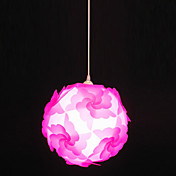 60W artistieke hanglamp met 1 Licht in Floral Ball Design