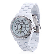 Women's Alloy Analog Quartz Wrist Watch (White)