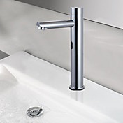 Brass Contemporary Chrome Finish Sensor Bathroom Sink Faucet