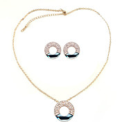 Fabulous Alloy With Crystal Concentric Circles Women's Jewelery Set Including Necklace,Earrings (More Colors)