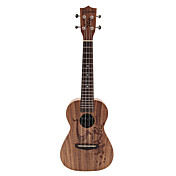 Rainie - (CC-02) High-Grand Solid Acacia Koa Concert Ukulele with Gig Bag/Tuner (Coffee Tatoo)
