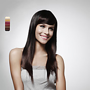Capless Long 100% Human Hair Dark Brown Straight Hair Wig 5 Colors To Choose