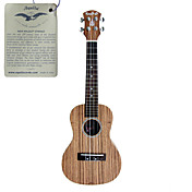 hanknn - soprano ukulele zebrano con gig bag