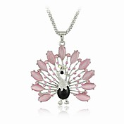 Gorgeous Silver Alloy Peacock Women's Necklace