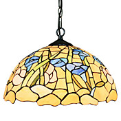 Tiffany Glass Pendant Lights with 2 Lights in Bamboo Pattern