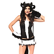 Sexy Womens Cat Kitten Kitty Halloween Costume(6 Pieces)