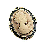 patrón dama relieve broche