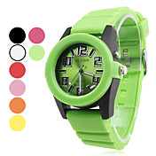 Men's Plastic Analog Quartz Wrist Watch (Assorted Colors)
