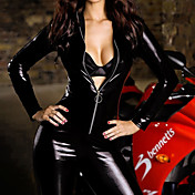 Sexy Women Jumpsuit Bodysuit PU Leather  Fancy Halloween Costume(1Pieces)