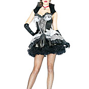 Sexy Womens Madame Bloodthirst Vampiress Halloween Costume(3Pieces)