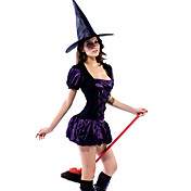 Sexy Purple Sorceress Dress Halloween Costume(2Pieces)