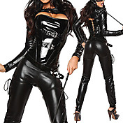Sexy black Kitty Cat girl Clubwear Woman Halloween Party(3Pieces)