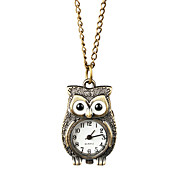 Elegant Alloy Owl Design Necklace Watch